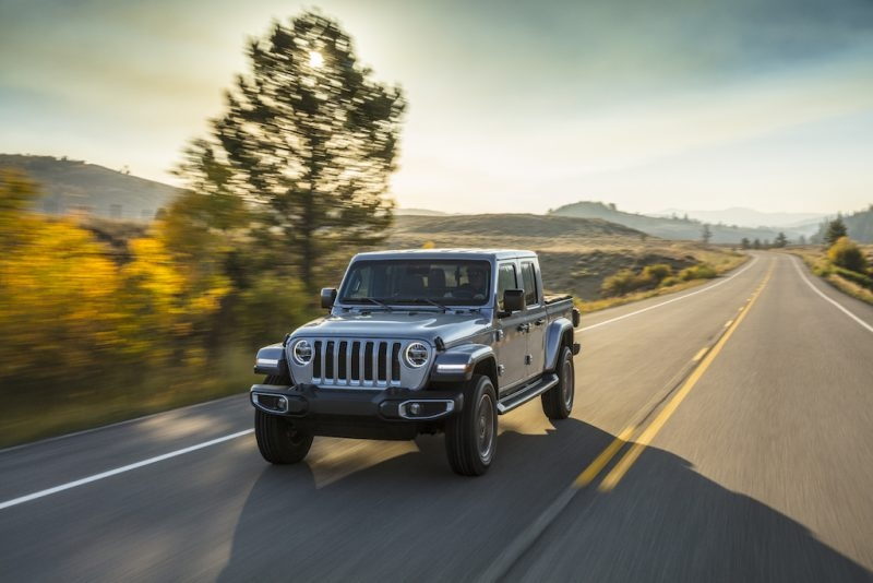 2020 Jeep Gladiator Overland on the road