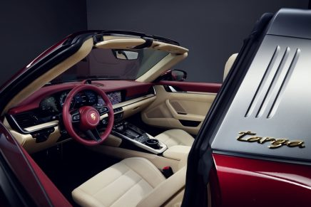 Porsche presents its first Heritage Design model: The Cherry Metallic 2021 911 Targa 4S Heritage Design Edition