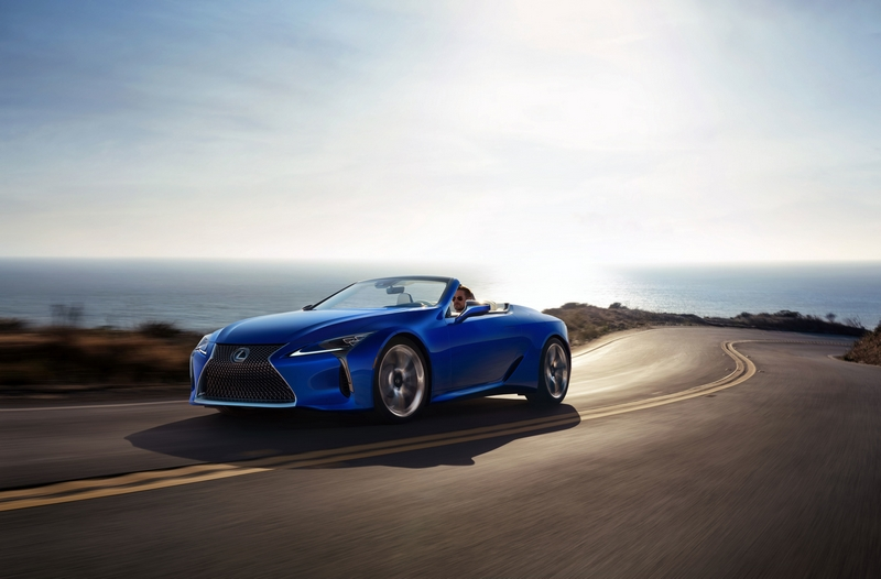 2021 Lexus LC 500 Convertible made its global debut at the 2019 Los Angeles International Auto