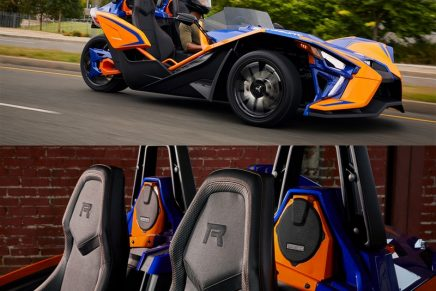 2021 Polaris Slingshot drivers are sure to be heard just as easily as they are seen