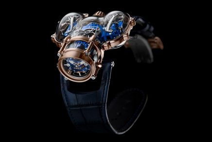 The out of this world MB& F Horological Machine N°9 comes with a Sapphire Vision superpower