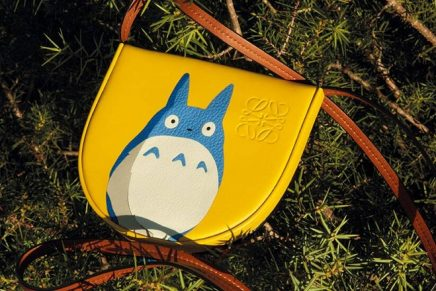 My Neighbor Totoro Japanese animated movie comes to life on Loewe clothes and bags