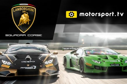 Lamborghini Squadra Corse announces Dedicated TV Channel