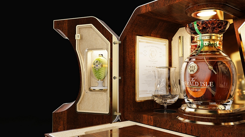 'The Emerald Isle' created by The Craft Irish Whiskey Co. & Fabarge @The Craft Irish Whiskey Co.