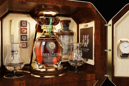 The $2 Million Whiskey Set with Fabergé Egg and Watch celebrates the Seven Wonders of Ireland