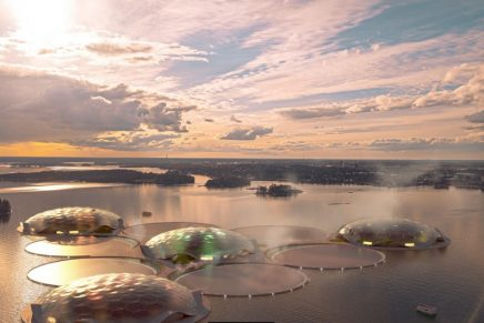 These heat-storing floating islands will be home to tropical forests and ecosystems from around the world