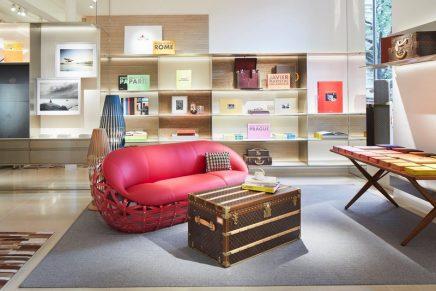 Louis Vuitton transformed Saint-Germain-des-Prés store into a bookstore with writing room