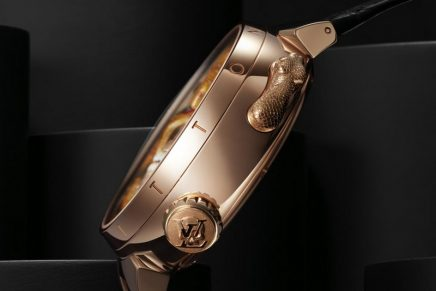 On the new vanitas-inspired Tambour Carpe Diem, the time can be read on demand