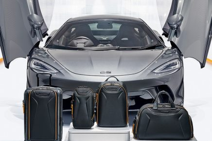 McLaren unveils made-to-last luggage and travel accessories made from race cars materials