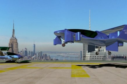 Jetoptera flying car's unique propulsion system is turning the air around the craft into powerful thrust
