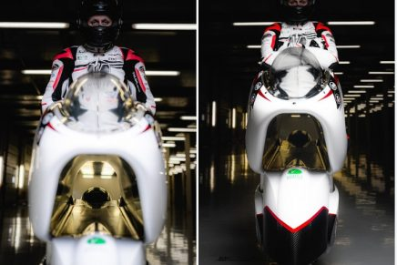 The giant air duct of this electric bike can make it the world's fastest