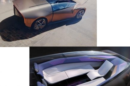 Like entering a living room, getting inside Pininfarina's Teorema takes place by simply walking inside