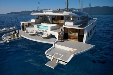 Wider-Pajot reveal the 145 EcoYacht, a radically innovative and ecological catamaran superyacht