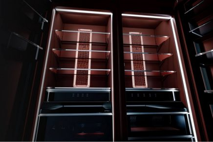 Burlesque or Columns? The interiors of these luxury refrigerators are unlike anything you have ever seen