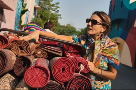 Margherita Missoni traveled to India to create a scarf inspired by her travel
