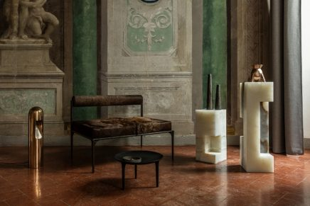 luxe minimalism: Rick Owens' brutalist pieces of furniture at Milano Design Week