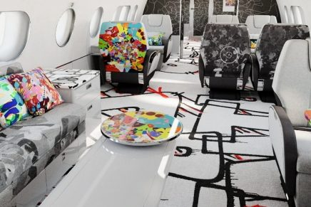 Artist Cyril Kongo and Airbus Corporate Jets break through the traditional look of business-jet interiors