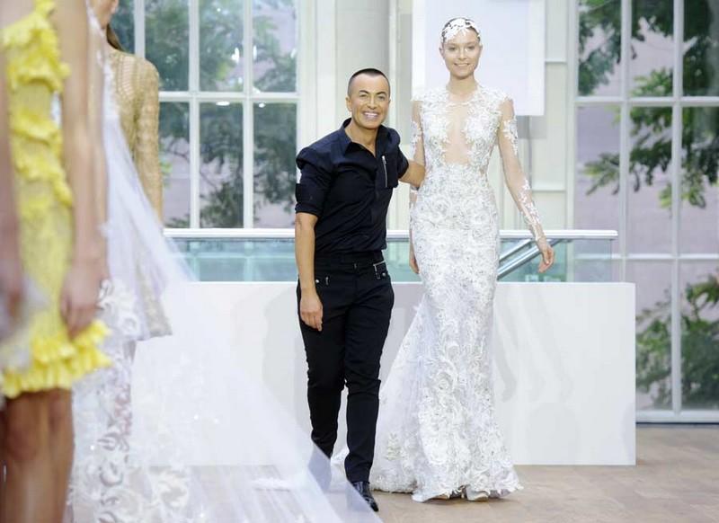5 of the most luxurious wedding dresses in the world - Julien Macdonald's 2014 diamond wedding dress