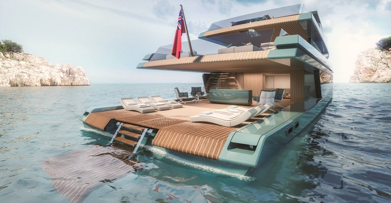 500 Wallyace - a sheltered veritable beach 80 cm above the water, with abundant natural ventilation
