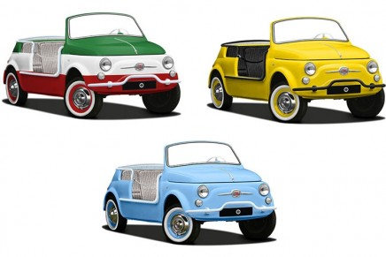 Fiat 500 Jolly Spiaggina e-Icon: 'Now you too can sample la dolce vita'
