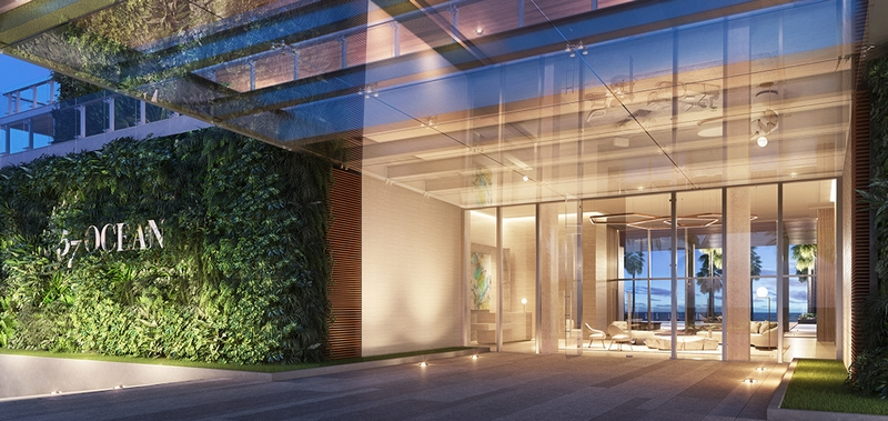 57 Ocean residences-entrance