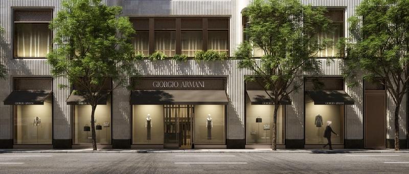 760 Madison Avenue giorgio armani facade renderings