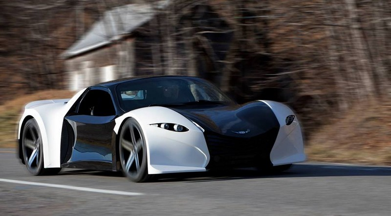 800 Horsepower Tomahawk electric car set for 2018 production- on the road