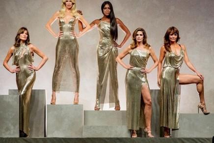 Original supermodels assemble for catwalk tribute to Gianni Versace