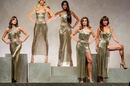 Original supermodels assemble for catwalk tribute to Gianni Versace