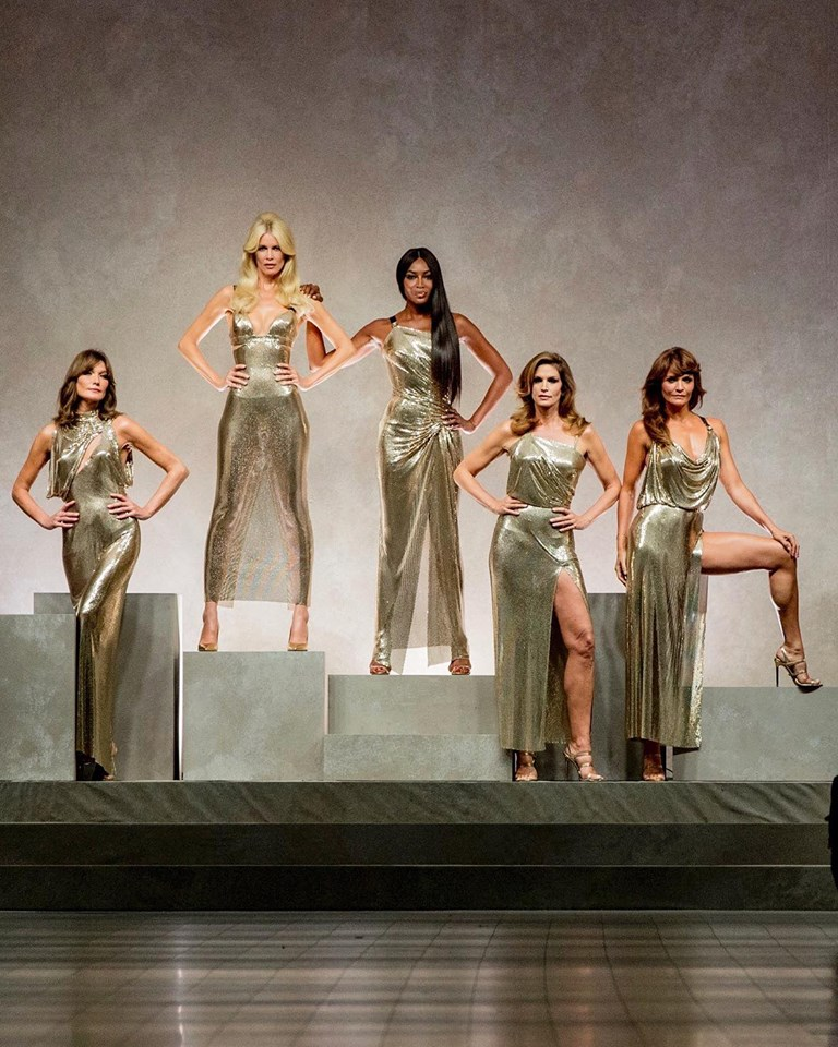 90s supermodels tribute to GVersace