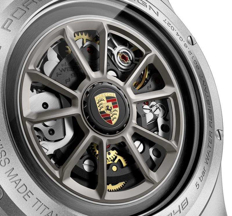 911 Speedster Heritage Design timepiece - backcase closeup