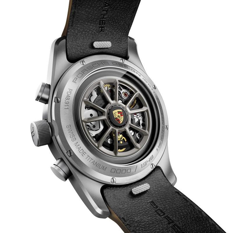 911 Speedster Heritage Design timepiece - backcase