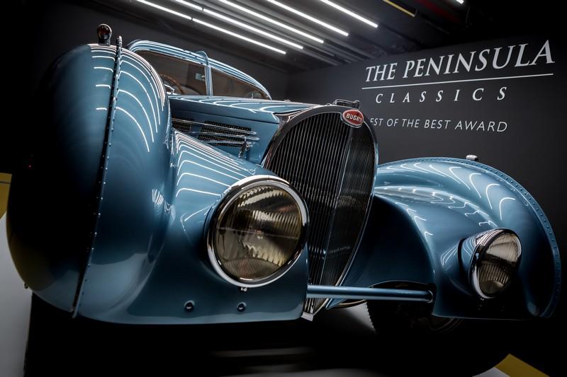 A 1936 Bugatti Type 57SC Atlantic named winner of The Peninsula Classics Best of the Best Award 2017