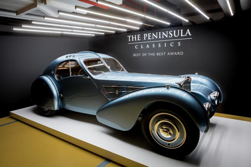 A 1936 Bugatti Type 57SC Atlantic was named winner of The Peninsula Classics Best of the Best Award 2017
