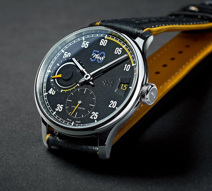A Christopher Ward C1 Morgan Plus 8 Chronometer watch accompanies each Morgan Plus 8 50th