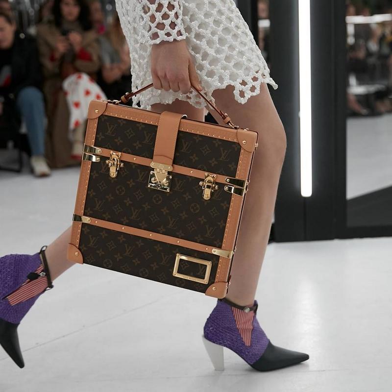 A Monogram handbag from the Louis Vuitton Women's Spring-Summer 2019 Fashion Show by Nicolas Ghesquière