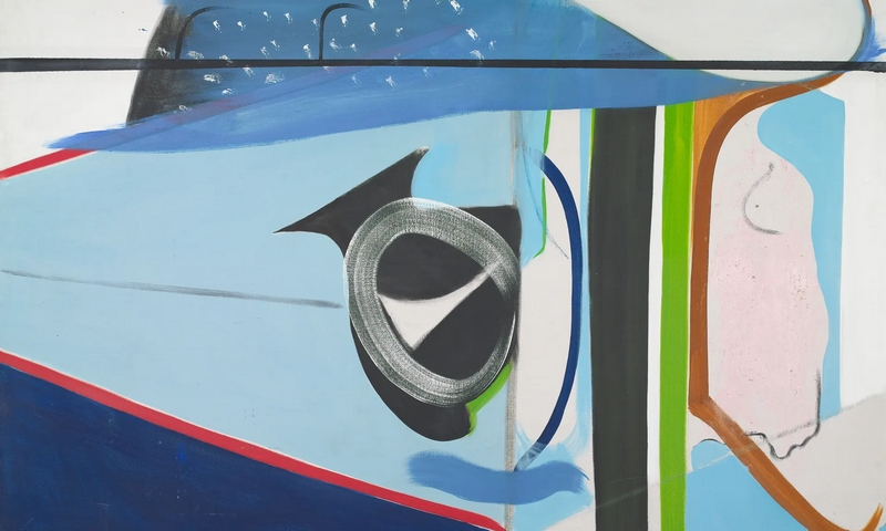 A detail from Peter Lanyon's Clevedon Bandstand, oil on canvas, 1964. Photograph Peter Lanyon estate