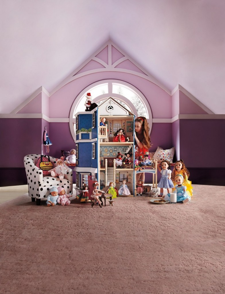 A dream year of dolls by Madame Alexander and a custom-made Grand Anniversary Dollhouse by KidKraft