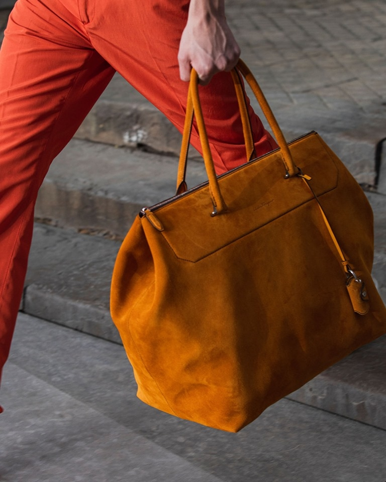 A high octane colour palette straight from the Salvatore Ferragamo SS20 collection Florence