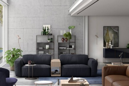 Colosseo smart sofa by Mauro Lipparini to redefine the smart home living room experience