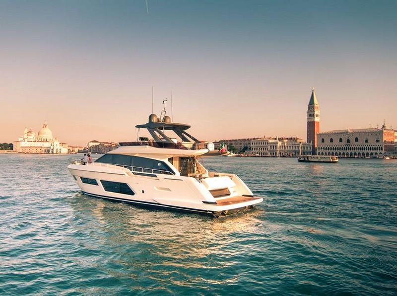 A portrait of a gem - the Ferretti Yachts 670 in romantic Venice