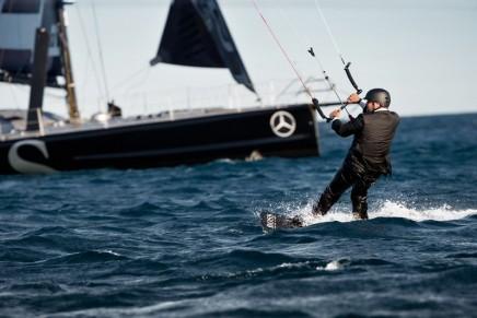 Breathtaking Skywalk: British yachtsman Alex Thomson has once again underlined his reputation as a daredevil