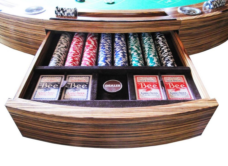 A traditional custom multi games table