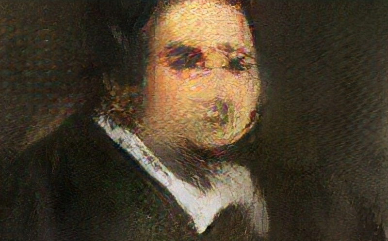 AI-generated artworksold at aucton - Portrait of Edmond Belamy