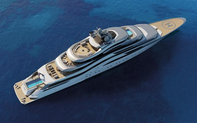 AMELS AND H2 YACHT DESIGN UNVEIL 111-METRE CONCEPT AT MYS 2017-