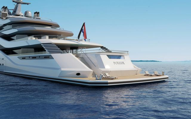 AMELS AND H2 YACHT DESIGN UNVEIL 111-METRE CONCEPT AT MYS 2017-Pollux renderings