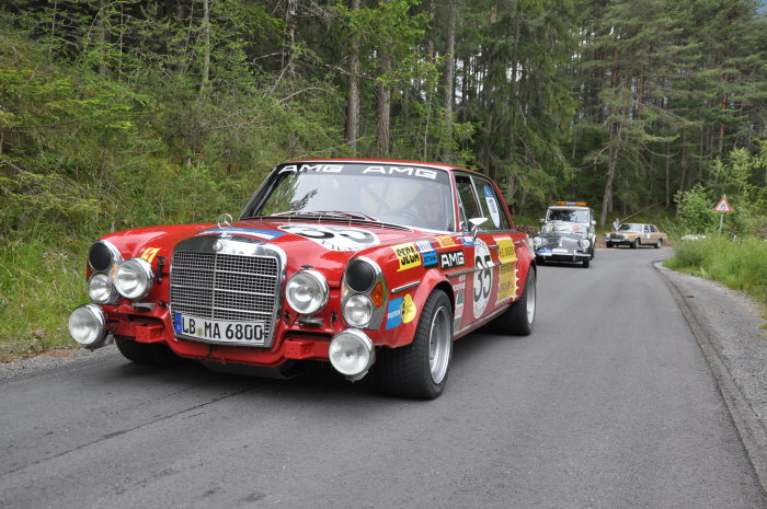AMG 300 SEL 6.8 (W 109), authentic replica of the 1971 racing tourer, at Arlberg Classic 2013