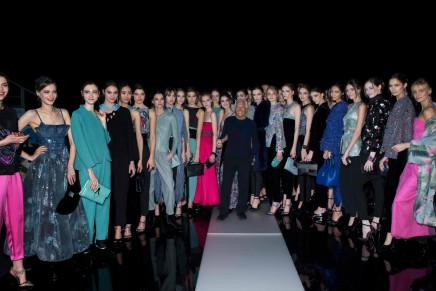 Giorgio Armani keeps glamour high despite Madonna's fall