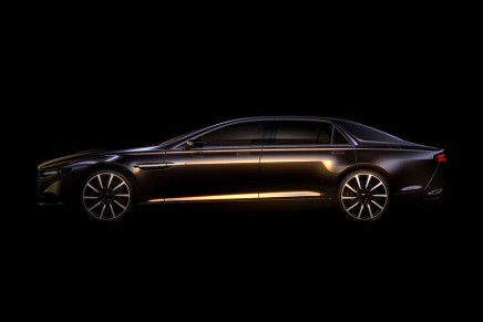 First images of the revival of the historic Aston Martin Lagonda nameplate