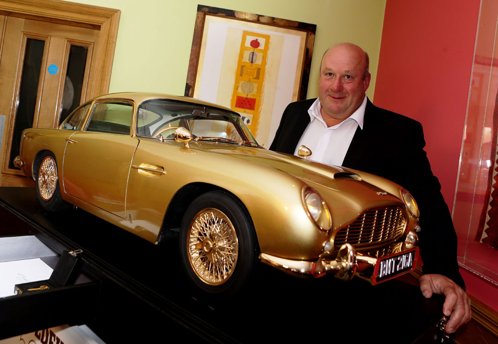 Gold Replica Of James Bond S Iconic Aston Martin Db5 Sold